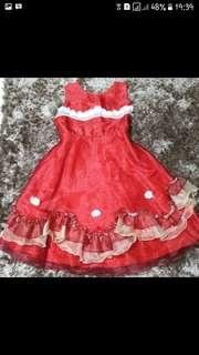 Dress anak merah