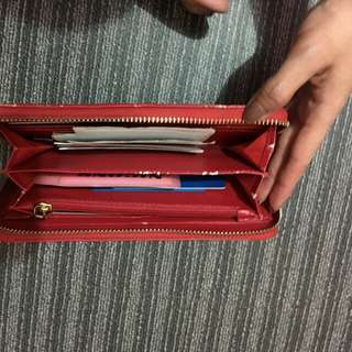 Charles and Keith Red Wallet