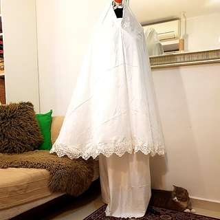 Bridal Telekung with Embroidery