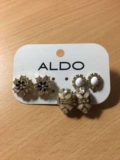 ALDO DRESS FAUX DIAMOND EAR RINGS