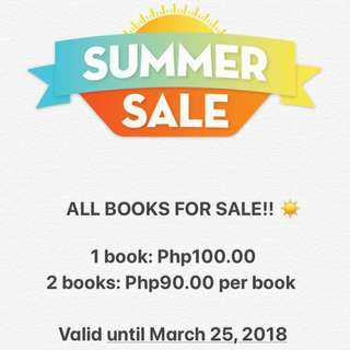 ALL BOOKS FOR SALE! 🍦