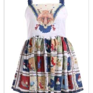 Cute patchwork fox dress