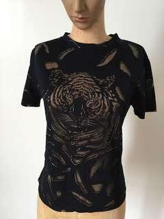 Black Tiger Sheer Blouse