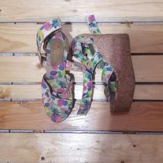 H&M Floral Wedge Heels