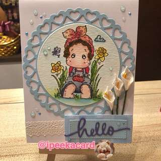 Handmade hello II card