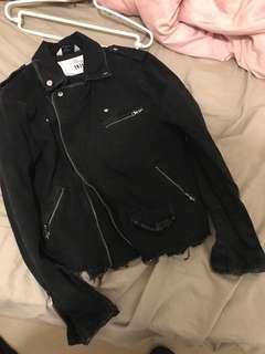 H&M biker 皮褸款 拉鏈 洗水布 外套 jacket coat dior slp 44 xs