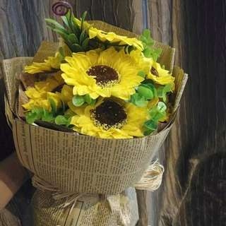 Wonderful Sunflower Soap Bouquet