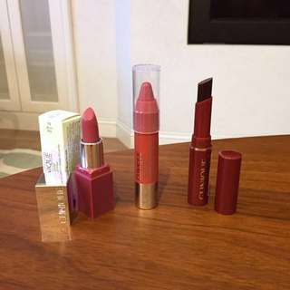 Clinique Lipsticks and Balm