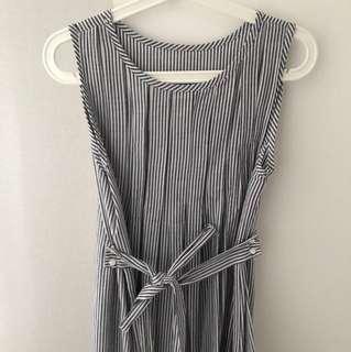 BN Korea Striped Maxi Dress