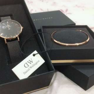 DW women watch 32mm cuff set $110 take it!