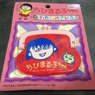 Chibi maruko Chan 櫻桃小丸子 散紙包 Coins Bag 紅色 貓仔款