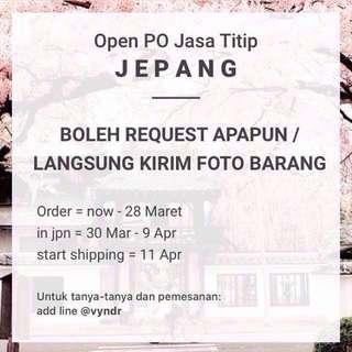 Open PO Jasa Titip (Jastip) Jepang