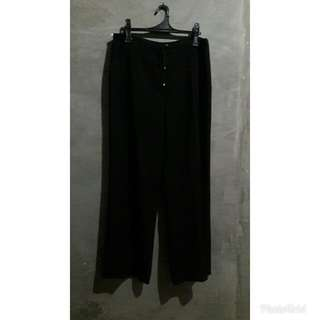 BLACK LONG SQUARE PANTS