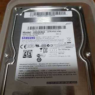 """Samsung 2TB SATA 3.5"""" hard disk"""