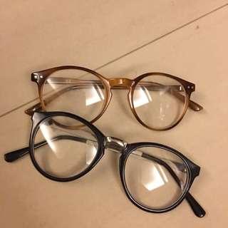 假眼鏡有鏡片兩隻100