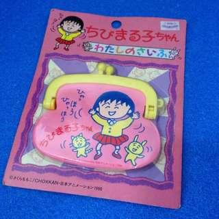 Chibi maruko Chan 櫻桃小丸子 散紙包 Coins Bag 粉紅色 兔仔 貓仔款