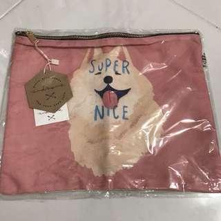 Cute Dog Clutch/ Pouch Bag