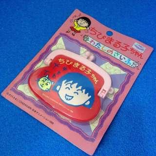 Chibi maruko Chan 櫻桃小丸子 散紙包 Coins Bag 紅色 笑臉款