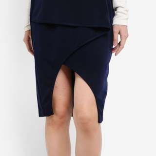Studio wrap detail pencil skirt