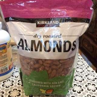 Kirkland Dry Roasted Almonds