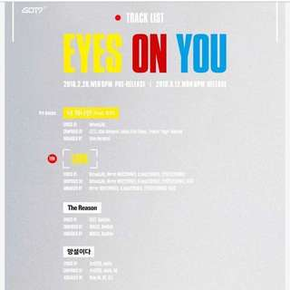 (FREE POSTER) GOT7 - EYES ON YOU