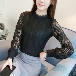 LT0017 Pre-order Long Sleeve Lace Top