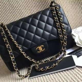 Chanel Lambskin Jumbo Maxi Flap