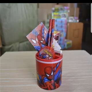 Spiderman Stationery Set Holder