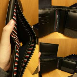 Tommy Hilfiger Men's Black Leather Wallet