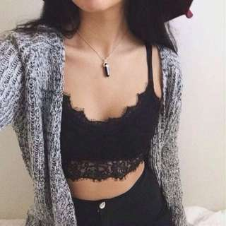 instock!!! crotchet lace bralette crop top