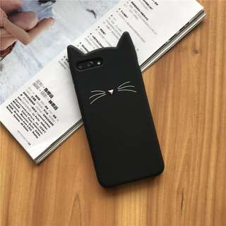 iPhone 7 8 Plus Kitty Cat soft silicone case casing cover