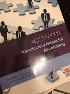 ACCT 10002 Introductory Financial Accounting