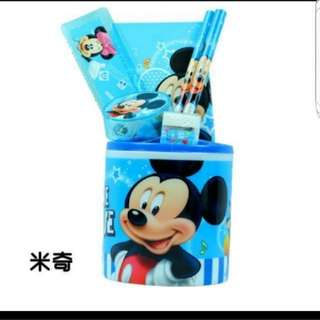 Mickey Mouse Stationery Set Holder