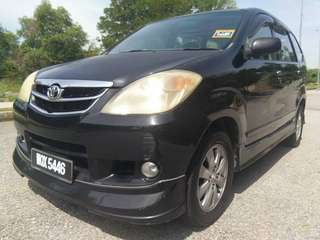 *LOAN KREDIT*  TOYOTA AVANZA  1.5 (A) yr 2008  Loan kedai/kredit 100% approved Cris/ctos/blacklist/cash salary/ptptn Dp + processing  Estimate rm560.00 x 5-6yr lokasi kl #negotiable  Fast Deal & Approval Trade in accept