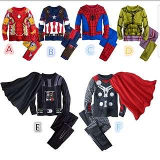 Kids Pyjama (pre-order) Size 1y to 8y