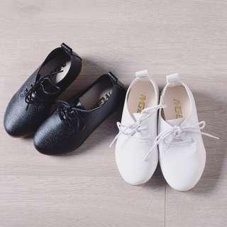 童裝平底系帶小皮鞋