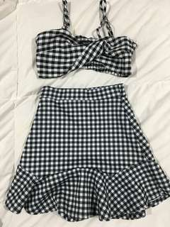 Crop and skirt set