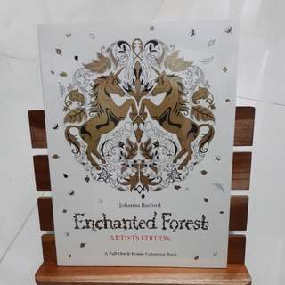 Enchanted Forest Artist's Edition Adult Coloring Book