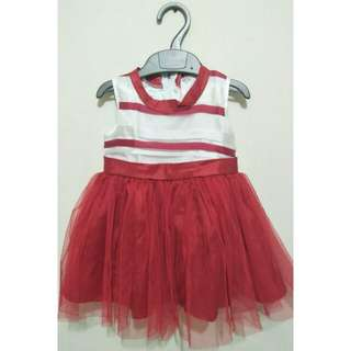 Dress baby red gaun anak