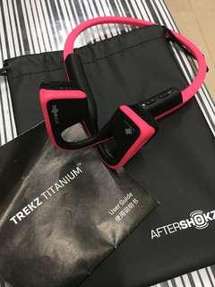 After shokz Trekz Titanium wireless Bluetooth headset AS600