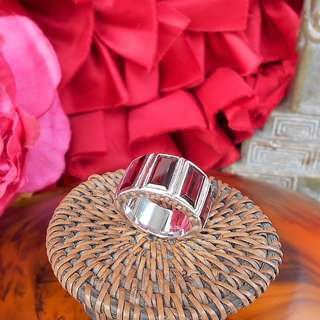RED QUARTZ SILVER Geometric Ring - LIKE NEW