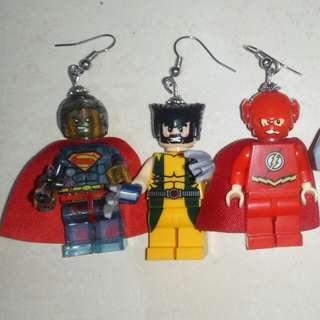 Superheroes Lego Earrings