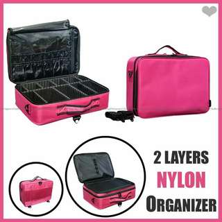 2 layers Nylon Make up Organizer
