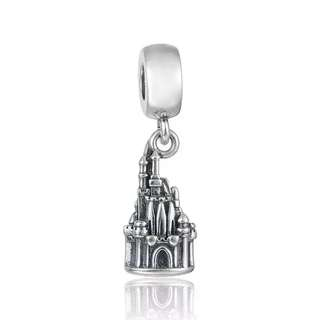 Code SS739 - Disney World Castle 100% 925 Sterling Silver Charm, Chain Is Not Included, Compatible With Pandora