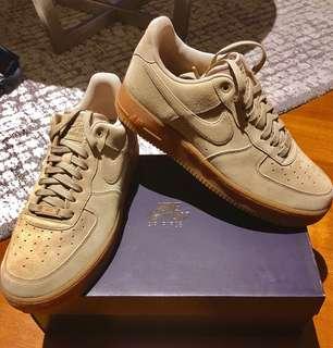 Nike Air Force 1 07 LV8 Suede To Gum in Mushroom Gum