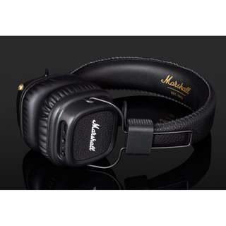 <New Arrival> Marshall Major II Bluetooth Wireless Headphones, Black, 30+ hrs of playtime! 無線藍牙耳機,黑色,超過30小時無線播放時間!