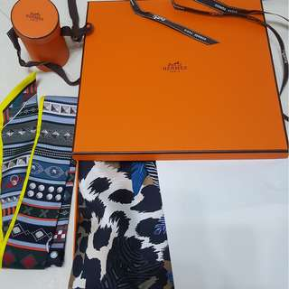 Hermes Jaguar Quetzal Scarf & Twilly