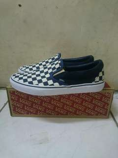 Vans Slip-on checkerboard Navy/white