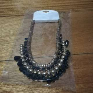REPRICED Black statement necklace