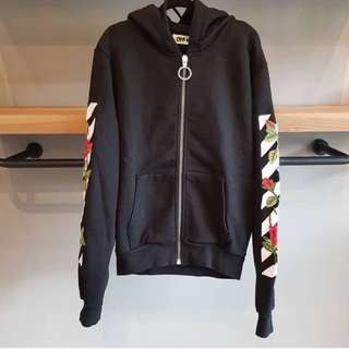 Off white rose hoodie